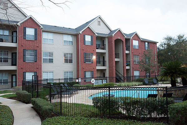 exterior of the apartments