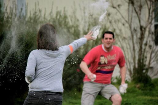 woman having fun outside