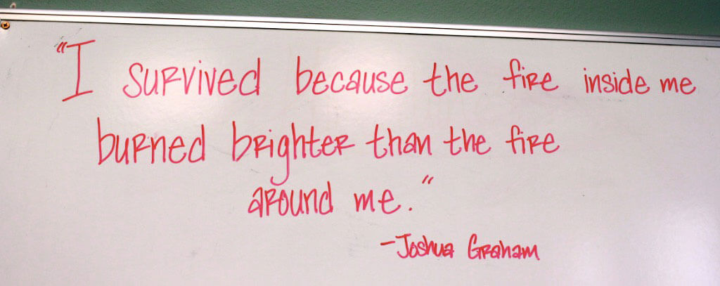 quote written on dry erase board