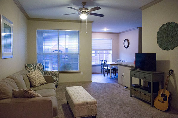 living room inside the apartments