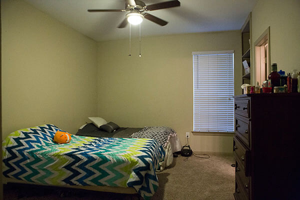 bedroom inside the apartments