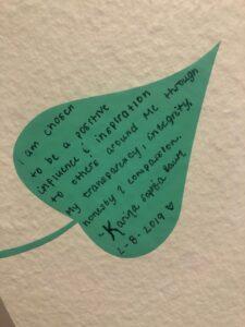 Handmade letter on leaf style paper